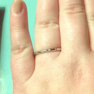Dainty CZ droplet ring